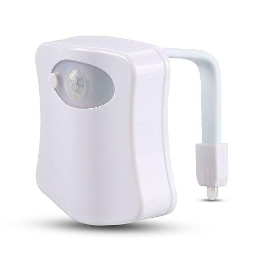 zycShang Corps Induction Automatique LED Les sports Capteur Veilleuse Lumière de toilette Lampe de la salle de bain (White)