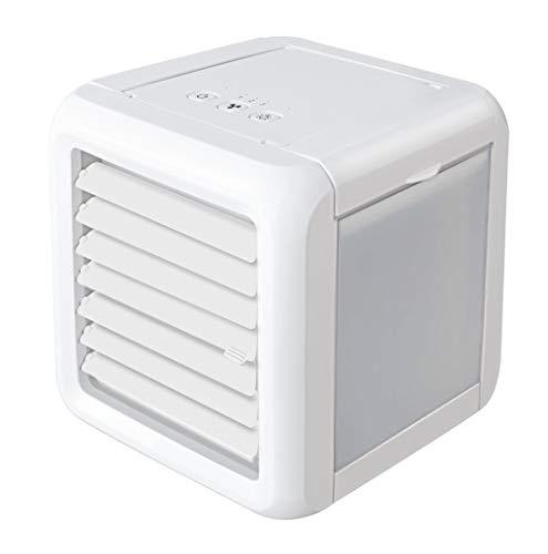 ge,Tragbare kleine lüfter luftkühlsystem Haushalt büro Beleuchtung led luftkühler (Weiß) ()
