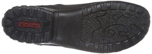 Rieker L4641, Scarpe da Ginnastica Alte Donna Nero (schwarz/schwarz/grau / 01)