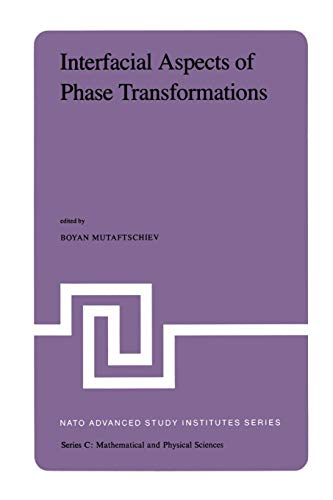 Interfacial Aspects of Phase Transformations: Proceedings of the NATO Advanced Study Institute held at Erice, Silicy, August 29 - September 9, 1981 (Nato Science Series C:, Band 87)