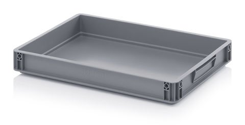 15 Litre Quality Drip Tray Oil Spill Garage Workshop Plastic Stacking Storage Tray - Fuel Spill Euro Container Pan Box Crate 60 x 40 x 7.5cm (10)