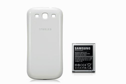 Batteria maggiorata Li-Ion 3000 mAh con il coperchio della batteria (marmo bianco) Samsung Galaxy s3