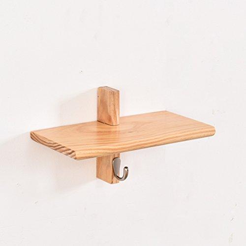 Dongyd Support de Cintre de Mur de Salle de Bains, Support Multifonctionnel en Bois Plein Creative Clap Living Room Shelf Hanger Holder Key Hook (Couleur : Wood, Taille : B)