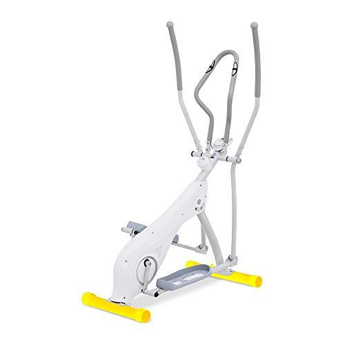Zoueroih-SP Ellipsentrainer Ellipsentrainer Crosstrainer Trainer for den Heimgebrauch Übung Fitnessgeräte (Farbe : Weiß, Größe : 130.5x64x158cm)