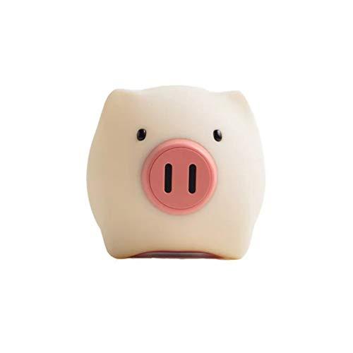 LNHYX Nette Schwein Nachtlichter Kreative Nase Schalter Kindergeschenk Schlafzimmer Nachttischlampe Atmosphäre Tischlampe Usb Lade (Nettes Schwein Nase)