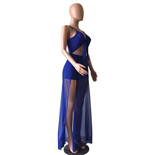 Oyedens Femme Pantalons Sexy Romper Pantalons Courts Bodycon Jupe Jupe Longue Robe Bleu
