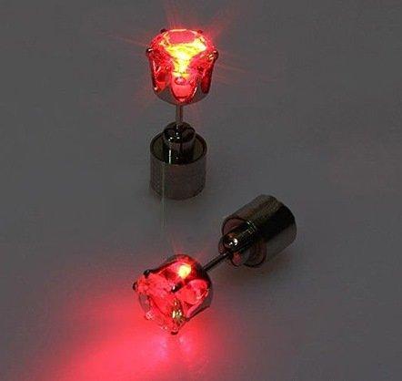 LED Ohrringe Leucht Ohrstecker Ohrringe rot leuchtende Ohringe mit Licht