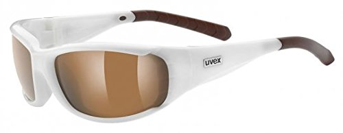 uvex forceflex pola, white/ polavision brown (S3), -