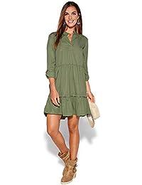 VENCA Vestido Cuello Mao y Escote v con Hebilla Mujer by Vencastyle - 023525 117f22c58d21