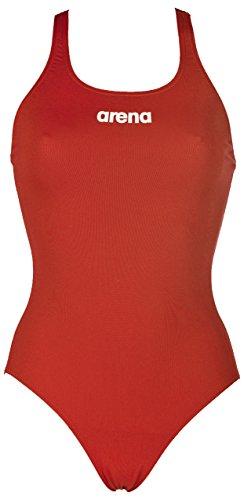 ARENA Solid Swim Pro Bañador, Mujer, Rojo Red/White, 36