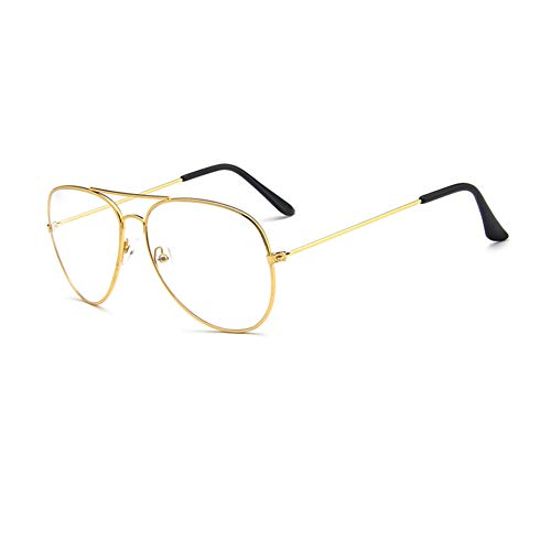 Brille Klassische Brille Metallgestell Nerdbrille Brillenfassung Aviator Vintage Brille Dekobrillen