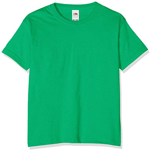 Fruit of the Loom Jungen T-Shirt, Green (Kelly), 5-6 Jahre (116) -