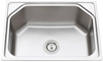 TAVISH Matte Finish 304 Stainless Steel Kitchen Sink (24 X 18 X 18-inch)
