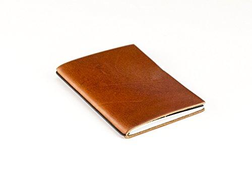 X17 A7 1er Notizbuch im vegetabil gegerbtes Leder aus Belgien, brandy - Made in Germany, echtes, ehrliches Leder, 17 Jahre Garantie auf die Hülle!