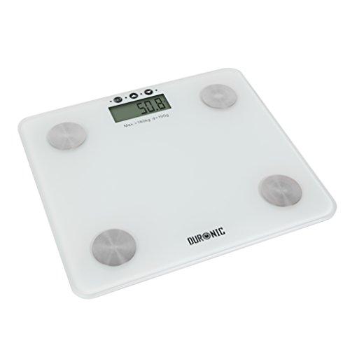 Duronic BS301 digitale Personenwaage / Körperanalysewaage / Gewichtswaage / Badezimmerwaage, bis zu 180 kg und Touch-Display