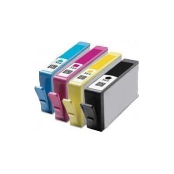4 XL Avec Puce Cartouche d'encre compatibles pour Imprimante HP Photosmart B010a B109a B109d B109f B109n B110a B110c B8550 C410a C5324 C5380 C6324 C6380 D5460, Hp Photosmart Plus B209a B209c B210a B210c, HP Photosmart Premium C309a C309g C309n C310a, 364XL CB321ee CN684EE CB323EE CB324EE CB325EE (Noir grande, Cyan, Magenta, Jaune)