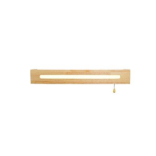 Einfache Holz Badezimmer Badezimmer Holz Spiegel Lampe Schlafzimmer Kopfteil Dekoration LED ziehen Schalter Wandleuchte (größe : L45cm) - Holz-finish-kopfteil