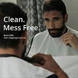 TOMIYA Bavoir à barbe, cape de barbe, tablier de barbe, cape de coupe, cape de rasage, chiffon de rasage, tablier en...