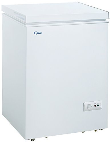 Kieis Metal Hard Top Chest Freezer (Off-White)