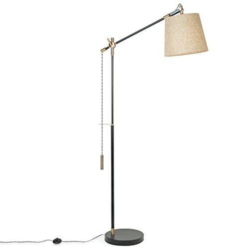 Stil Kuppel Licht (LILY American Multi-Angle verstellbare vertikale Lampe, Nordic minimalistischen Angeln Lichter, kreative Wohnzimmer Sofa Nachttisch Studie Stehlampe ( Color : Linen color ))