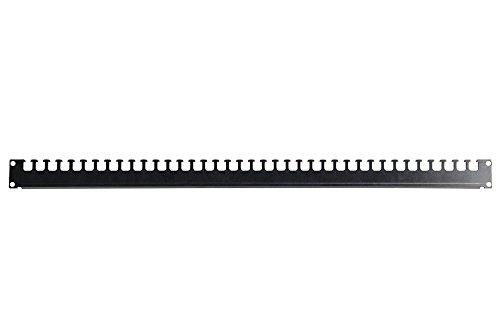 """DIGITUS Kabelabfangschiene für 19\"""" Unique & Dynamic Basic Schränke von DIGITUS, 52 cm Tiefe für 600 mm Schranktiefe, 2 mm starkes Stahlblech, Silber"""