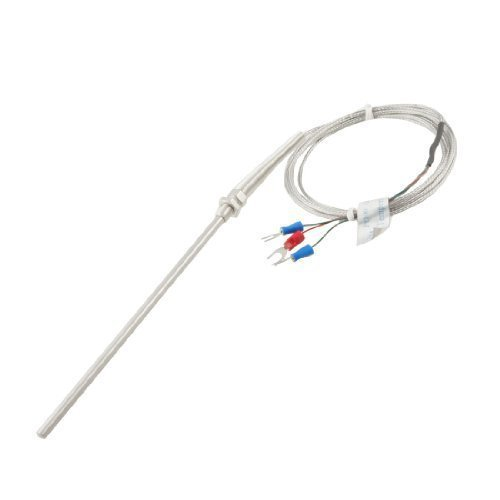 sourcingmap® PT100 2M Câble 5mm x 150mm Thermocouple Sonde Capteur De Température