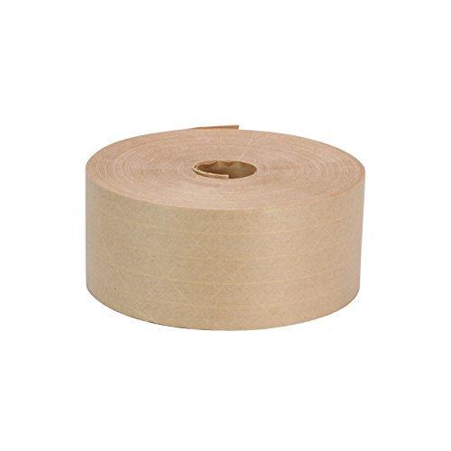 ROK Hardware 7,6cm X 450'Heavy Duty Faser verstärkte Gummierung, Papier Wasser aktiviert fadensiegelung Karton Box braun Kraft Verpackung Maschine Versand Tape - Papier Lb 60