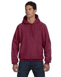 Champion Men's Men' Reverse Weave Fleece Pullover Hoodie, Maroon, X-Large (Fleece Hoodie Maroon)