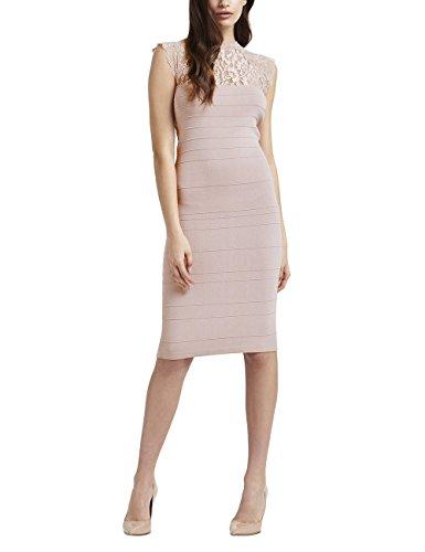 Lipsy Frauen Kleid In Bänderoptik Mit Spitze Normale Passform Rosa 38