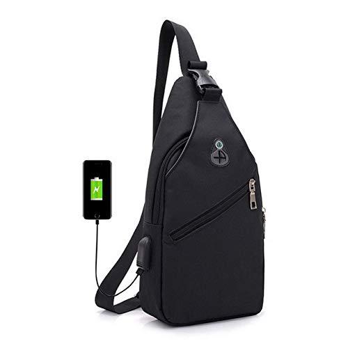 VIWIV 2019 Neue Männer Umhängetaschen Messenger Qualität Umhängetaschen Brusttasche USB Mit Kopfhörer Loch Designer Paket Rucksack,3