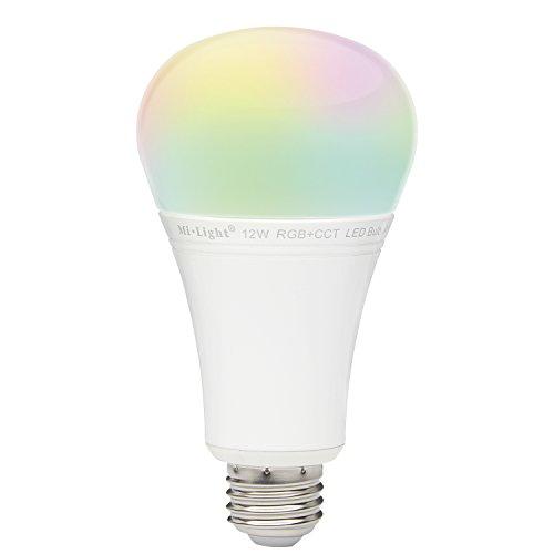 LIGHTEU®, 12W E27 nouvelle conception sans fil E27 12W 2.4G RF télécommande RGBW + CCT LED ampoules, 1100LM, fut105