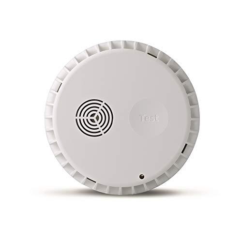 et Rauchmelder - mit intelligenter App-Steuerung - Brandmelder mit 10 Jahres Batterie - Sirene über 85dB Laut - mit kostenfreier App - Smart Home Feuermelder ()