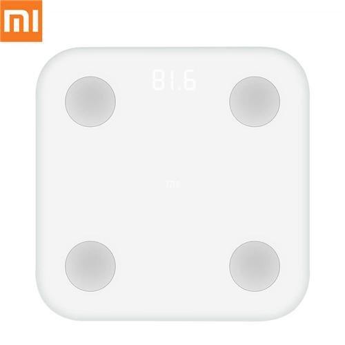 Xiaomi Mi Scale - Smart, báscula con Bluetooth, vidrio, blanco, led