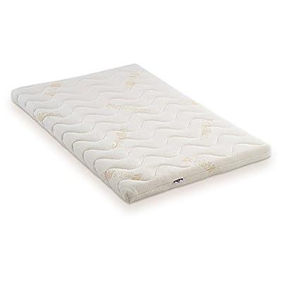 fabimax 3842auxiliar cama Basic Natural, con colchón Comfort y cuna Tamaño Grande), diseño de estrellas, color gris