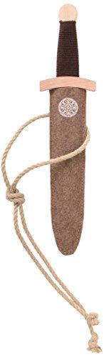 Stabiles Dolch-Set Wikinger mit Wikingerdolch aus Holz und Dolch-Scheide aus Filz, 35 cm ()