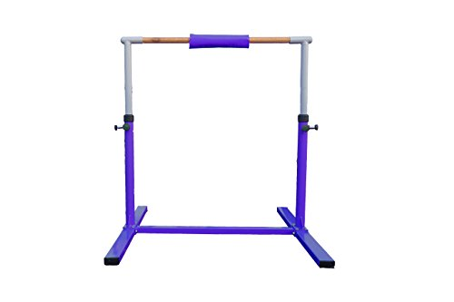 Seababyhouse 4ft barras gimnasia gimnasio Niños Junior Kip High Bar equipo para gimnasio de entrenamiento Kip Bar Ajustable Mejor regalo de la escuela [Kid Gymnastics Training Bar] púrpura