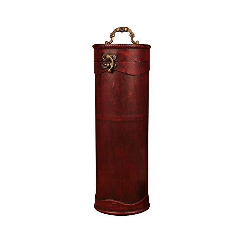 Weinkiste für 1 Flasche, Holz, Vintage-Stil, mit Griff, Antik-Finish, Zylinder