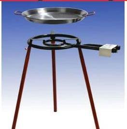 """Paella Grillset """"Cadiz"""" mit 2-flammigem, 35cm Gasbrenner (10,7 KW), 42cm Pfanne, normale Füsse, incl. Schlauch und Druckminderer"""