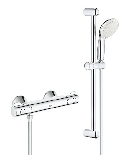 GROHE 34565001 Grohtherm 800 Mitigeur thermostatique Ensemble de Douche, Chrome
