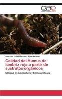 Calidad del Humus de lombriz roja a partir de sustratos orgánicos