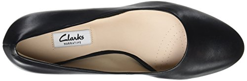 Clarks Damen Kelda Hope Pumps Schwarz (Black Leather)