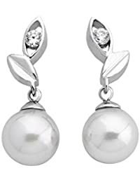 Majorica - Boucles d'oreilles - Argent 925 - Perle/Oxyde de zirconium - 12850.01.2.000.010.1
