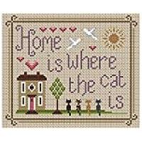 Little Dove Designs Casa è Dove Il Gatto è Kit per punto croce