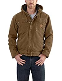 Carhartt 102285 Sandstone Barlett Mens Hooded Work Jacket