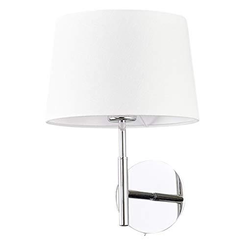 Lampenwelt Wandleuchte'Dorothea' dimmbar (Modern) in Weiß aus Textil u.a. für Wohnzimmer &...