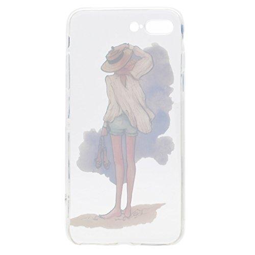 Per iPhone 7 Plus Cover , YIGA amicizia ragazza Sottile Cristallo Chiaro Case Trasparente Silicone Morbido TPU Custodia per Apple iPhone 7 Plus (5.5) TT13