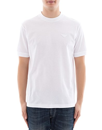 Prada Herren Ujn452xgsf0009 Weiss Baumwolle T-Shirt (Prada Herren Shirt)