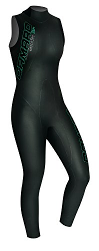 Camaro Damen Schwimmlongsuit Blacktec Skin 7/8, Schwarz, 40, 957795-99