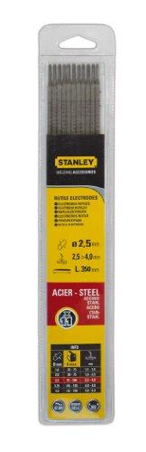 Stanley 460725 - Electrodos para soldadura (11 unidades, 2.5 mm de diámetro)