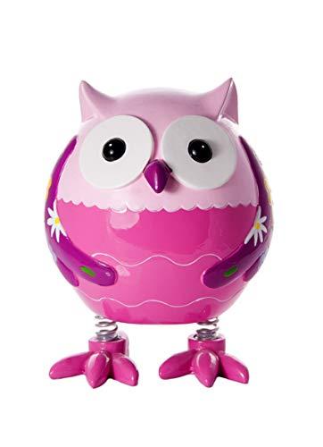 Hucha con forma de búho rosa para niñas